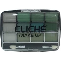 Cliché eyeshadow 12 colors Nº 4 (green)