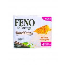 Feno de Portugal - 4x sabonete Mel e Flôr de Laranjeira Nutricuida (4x90g)