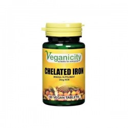 Veganicity - Iron Chelate 24mg (90 tablets)
