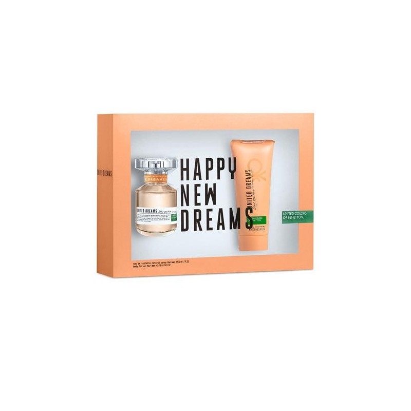 United Dreams, happy new dreams EDT 80ml + Body Lotion 100ml Woman set UNITED COLORS OF BENETTON