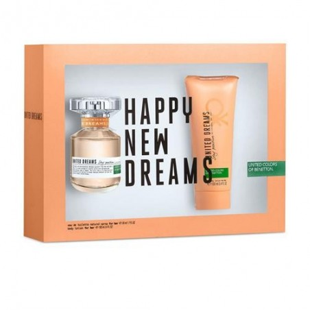 United Dreams, happy new dreams EDT 80ml + Body Lotion 100ml Mulher set UNITED COLORS OF BENETTON