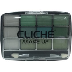 Cliché eyeshadow 12 colors Nº 4 (green)