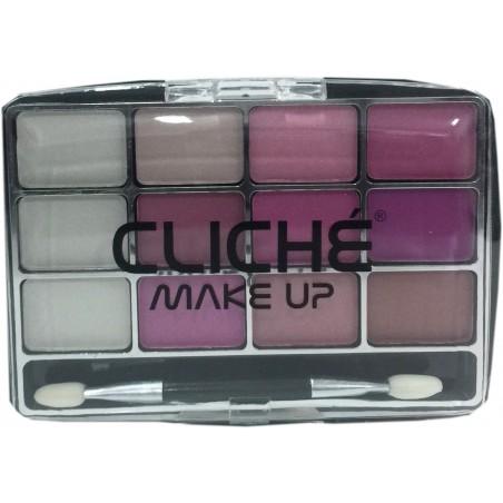 Cliché eyeshadow 12 colors Nº 6 (pink)
