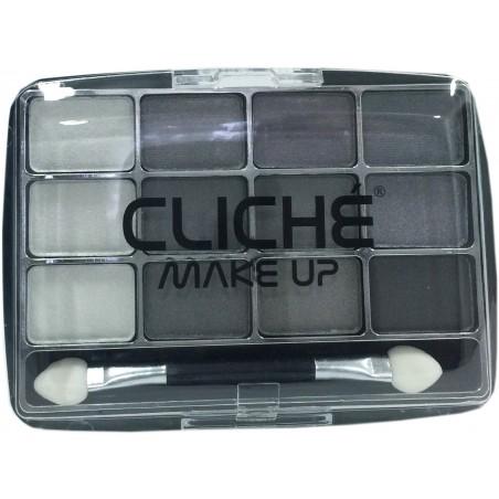 Cliché eyeshadow 12 colors Nº 1 (grey)