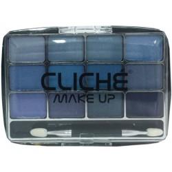 Cliché eyeshadow 12 colors Nº 3 (blue)