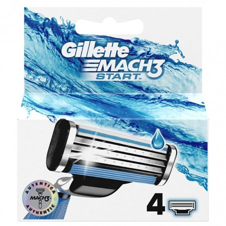 Gillette - Match3 lâminas/ Recargas 4 unidades (start)