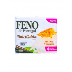 Feno de Portugal - 4x Honey and Orange Blossom soap Nutricuida (4x90g)