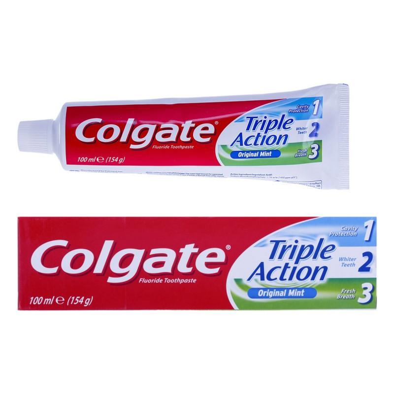 Colgate - Triple Action 100ml (154g) Original Mint
