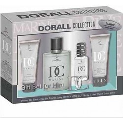DORALL Collection Marine PACK EDT 100ml + EDT 15ml + Gel Duche 50ml + After Shave 50ml (homem)