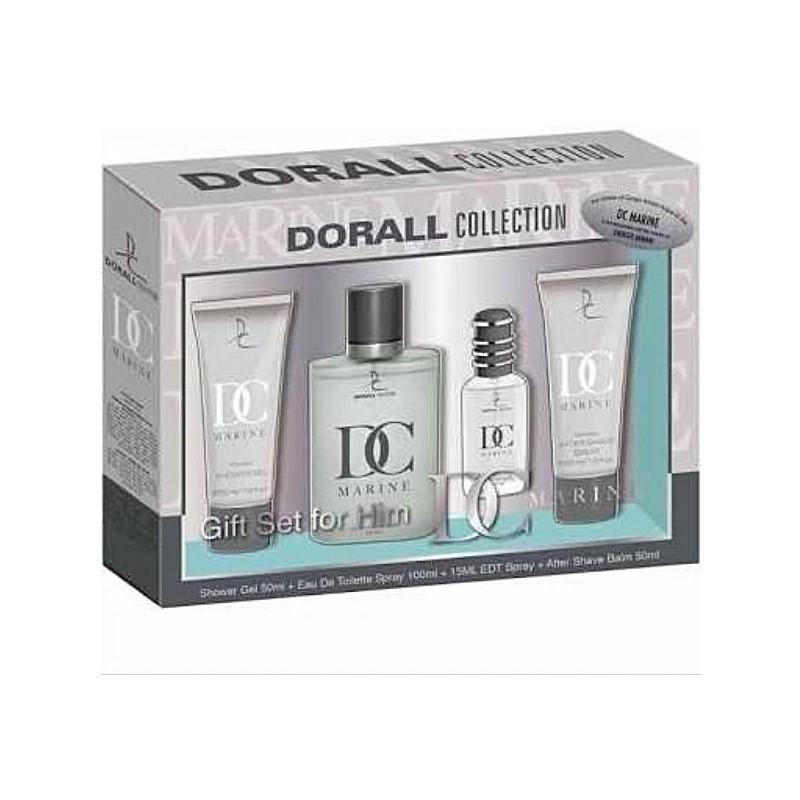 DORALL Collection Marine PACK EDT 100ml + EDT 15ml + Shower Gel 50ml + After Shave 50ml (men)
