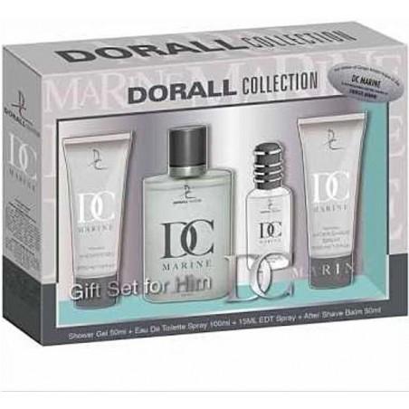 DORALL Collection Marine PACK EDT 100ml + EDT 15ml + Gel Duche 50ml + After Shave 50ml (homem)