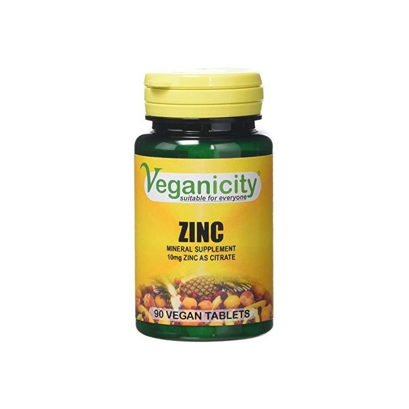 Veganicity - Zinco 10mg zinc (90 comprimidos)