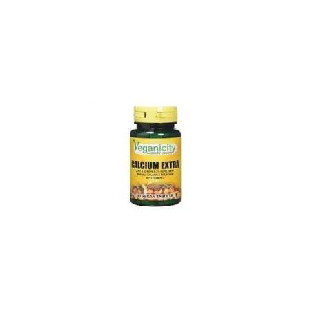 Veganicity - Extra Calcium (30 tabletas) con magnesio y vitamina D