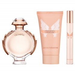 Coffret OLYMPÉA for Woman EDP 50ml + Body Lotion 75ml + Travel Spray 10ml - Paco Rabanne