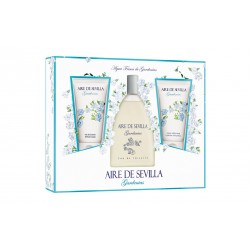 Aire de Sevilla ROSAS BLANCAS Coffret 150ml EDT+ 150ml Gel Bath + 150ml Body lotion - Woman (Instituto Español)