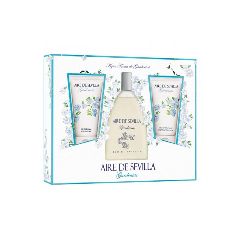 Aire de Sevilla ROSAS BLANCAS Coffret 150ml EDT+ 150ml Gel Bath + 150ml Body lotion - Woman (Instituto Español)