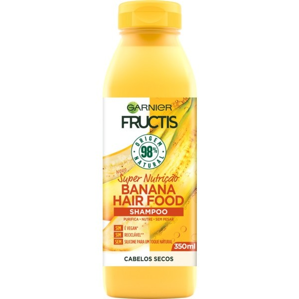 Garnier - Fructis - Champô BANANA Hair Food 350ml (Vegan)