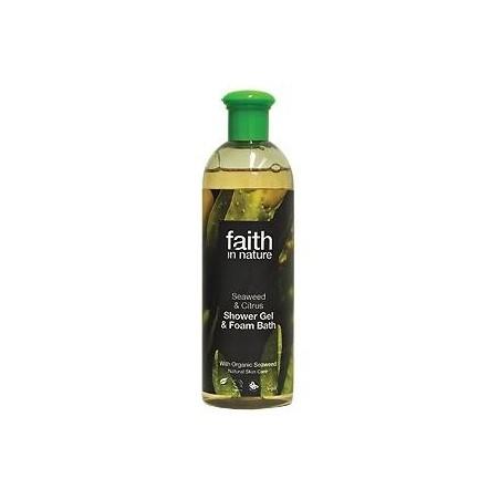 Gel Duche & Espuma de Banho de Algas e Citrinos 250ml/400ml (faith in nature)