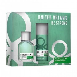 United Dreams, be strong EDT 100ml + Deo Spray 150ml Homem set UNITED COLORS OF BENETTON